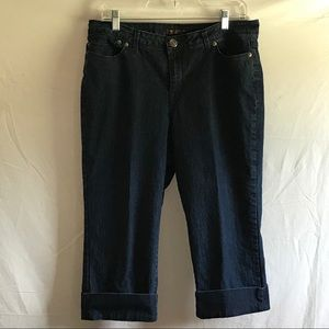 The Limited cropped Capri blue jeans size 10